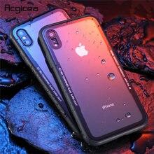 Için iphone 7 Durumda Temperli Cam cep telefonu kılıfı Için iphone 8 7 artı Darbeye Tam Kapak Için iphone X 10 Funda Aksesuarları