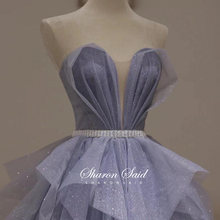 Brokatowe cekiny tiul niebieska suknia wieczorowa linia Sweetheart Ruffles długie słodkie 16 sukienki 2021 Quinceanera suknie na imprezy urodzinowe