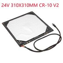 12/24V CR10 310*310/410*410/510*510*3MM heatbed Upgrade MK3 Heatbed Aluminium für ende 3 CR 10 V2 CR 10S S4 S5 3d drucker Brutstätte