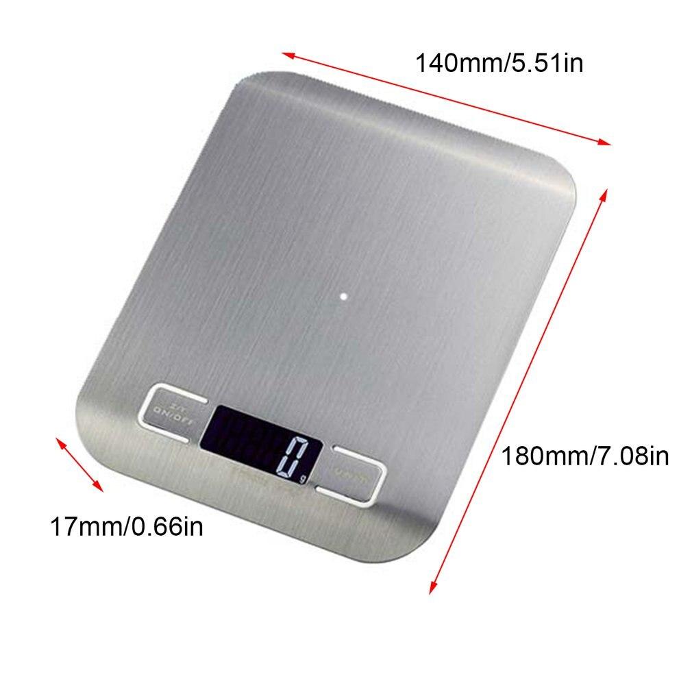 Бытовые кухонные весы, 5 кг/10 кг, 1 г, пищевая диета, Почтовые весы, измерительный инструмент, тонкие цифровые электронные весы с ЖК-дисплеем-3