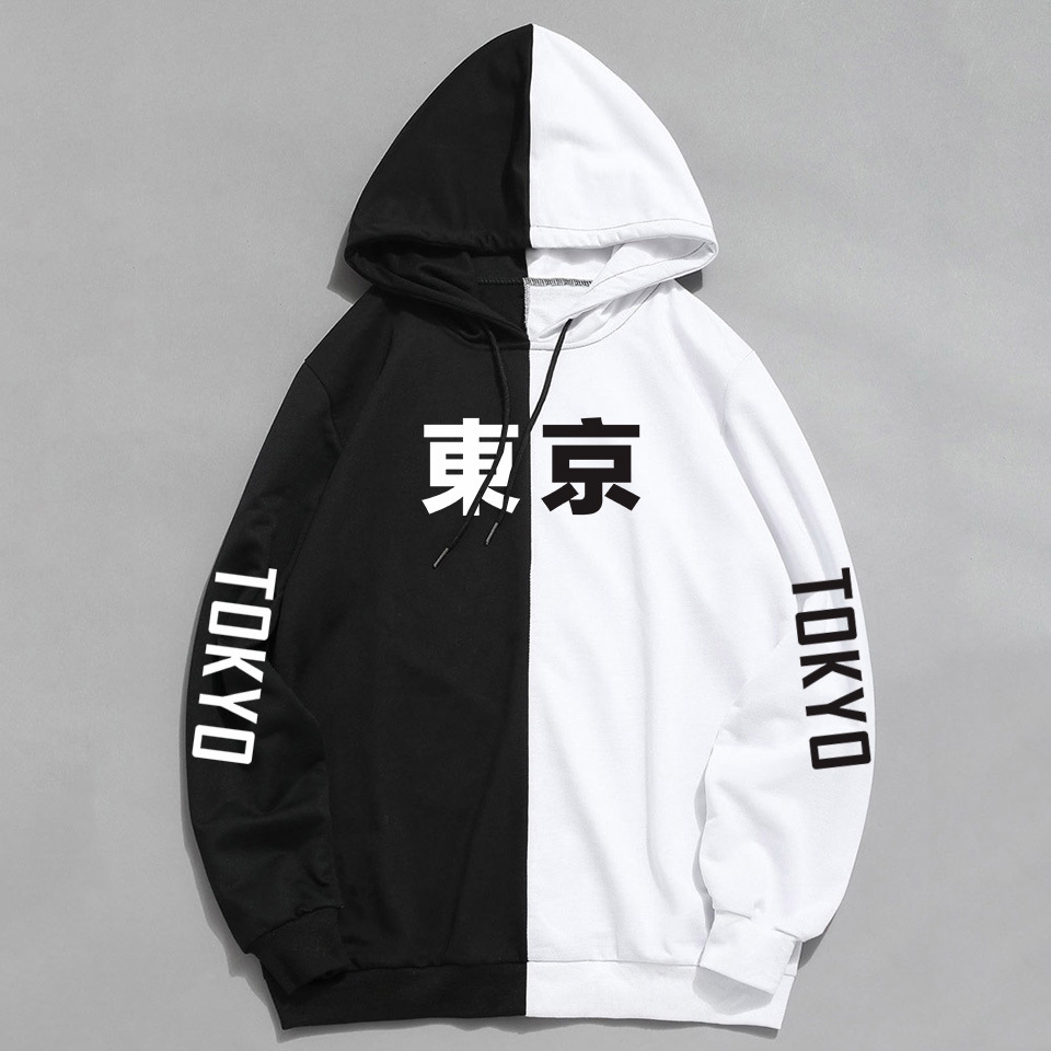 Autumn trend street youth fashion 2019 new casual autumn and winter cotton print hoodie youth hooded sweatshirt wear