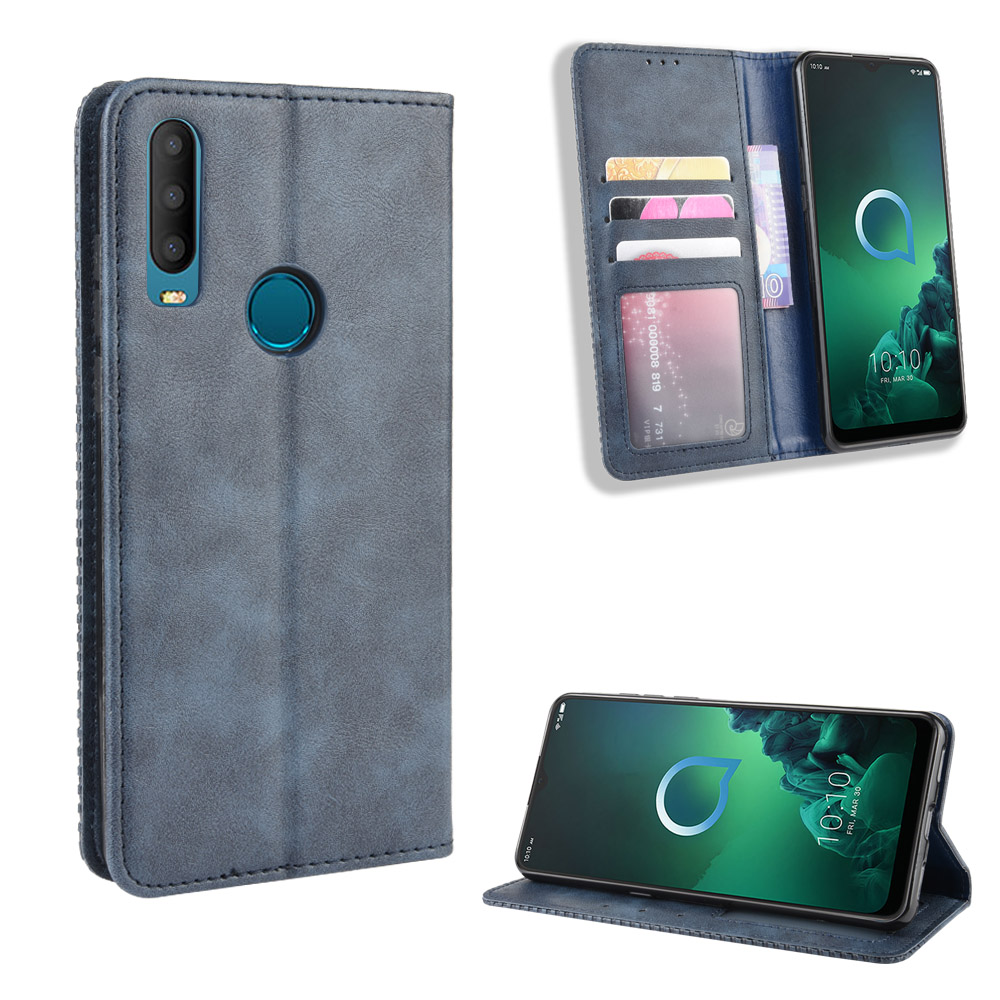 Alcatel 3X 2019 5048U 5048Y Case Wallet Flip Style Leather Vintage Phone Back Cover For alcatel 3x (2019) with Photo frame