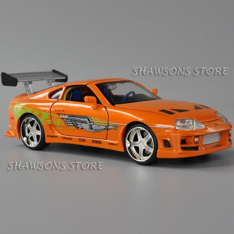 1:24 diecast metal esporte carro de corrida modelo de brinquedo brian réplica miniatura toyota supra
