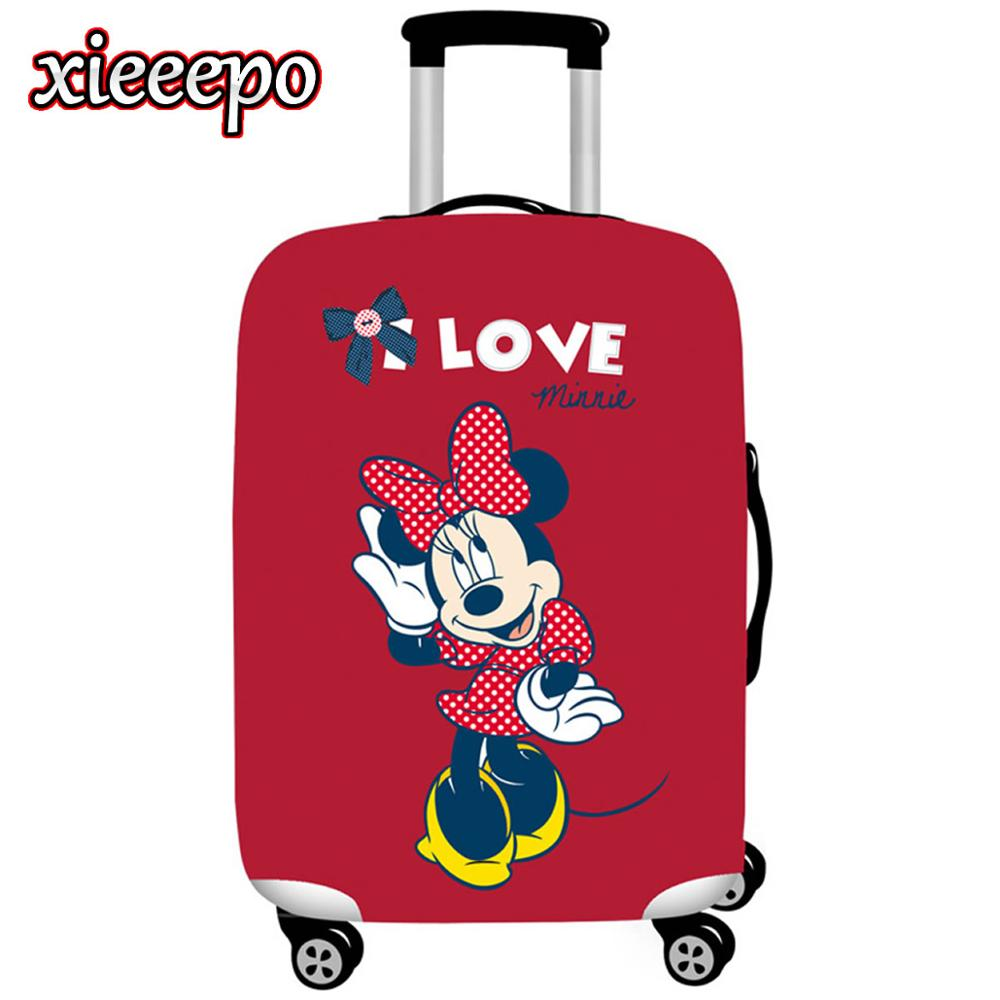 Cartoon 3D Minnie Luggage Cover Protective Case Thicken Waterproof Elastic Suitcase Cover For 18-32 Inch XL Travel Accessorie