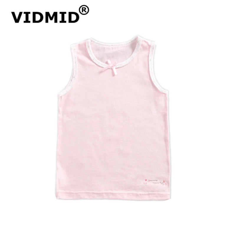 VIDMID baby girls sleeveless tanks vests kids cotton lace flowers clothes baby girls children's clothing tops tees shirt 4095 04 2
