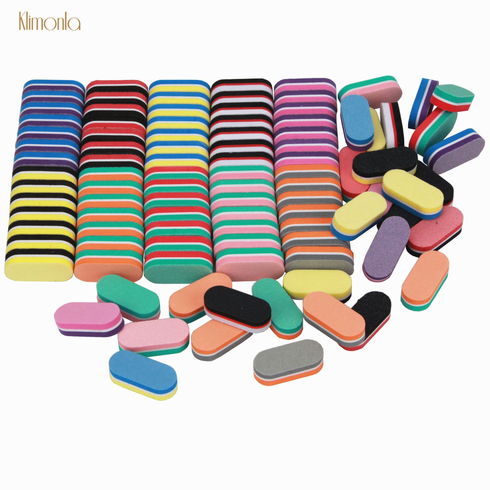 50 Pcs/lot Mini Nail Files Colorful Sponge Nail File Lixa De Unha Lima Buffer Block Pedicure And Manicure Nail Tools Kit