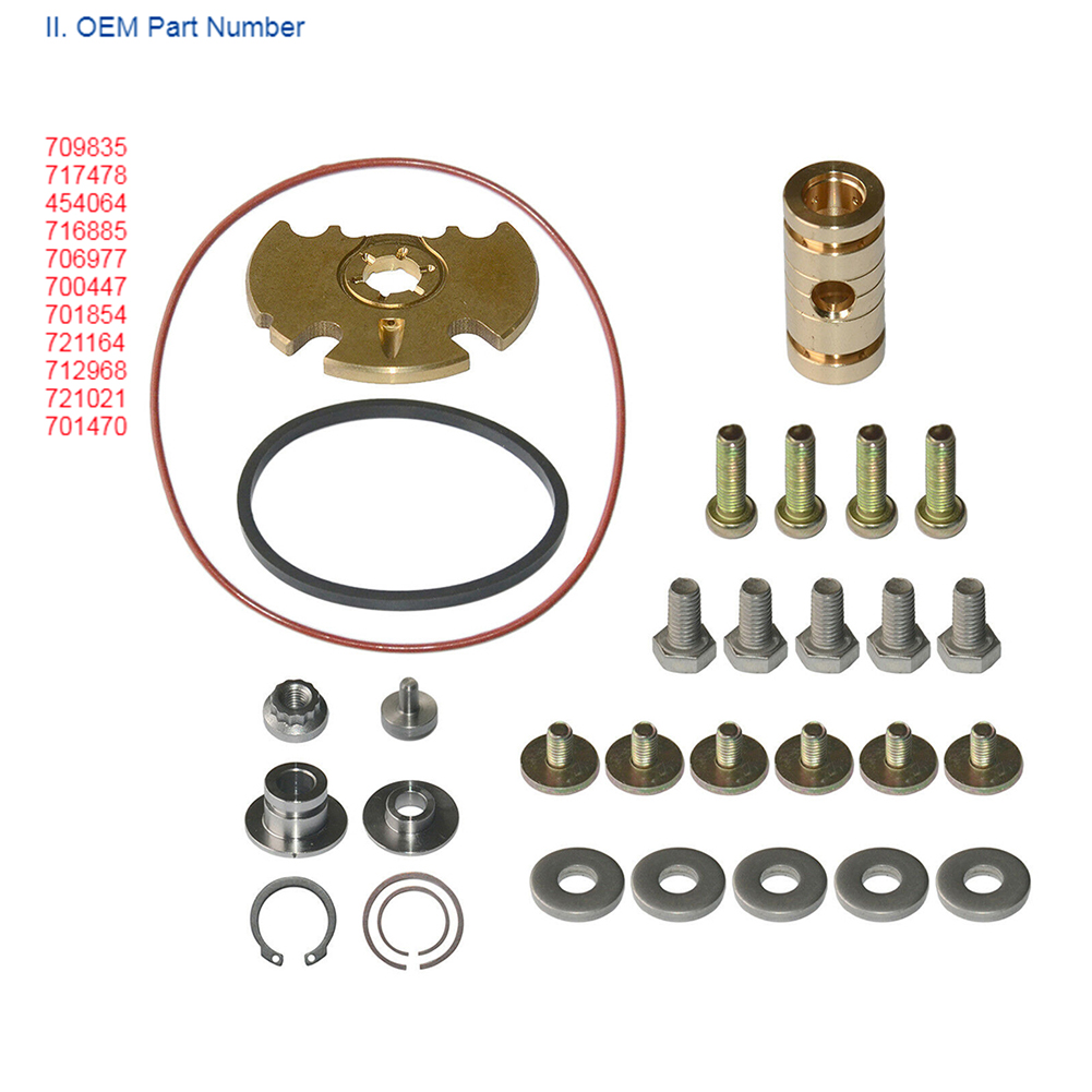 Durable Assortment Journal Bearing Easy Install Replacement Part Turbocharger Repair Kit Car O Ring For <font><b>Garrett</b></font> GT15-25 <font><b>GT1749V</b></font> image