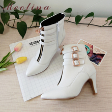 Meotina Shoes Women Boots Autumn High Heels Ankle Boots Poin