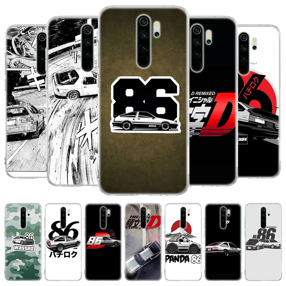 Silicone Case for Xiaomi <font><b>Redmi</b></font> Note 8T 6 7 8 Pro 9S <font><b>Redmi</b></font> K20 Pro 6 6A 7 <font><b>7A</b></font> 8 8A K30 5G <font><b>Cover</b></font> INITIAL D AE86 image