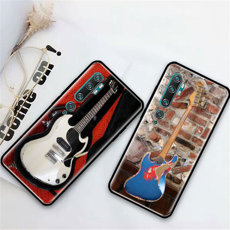 Love Gibson Guitar Music Case For Xiaomi Mi Note 10 9 CC9 9T Pro 5G CC9E 8 A3 A2 Lite X2 F1 Black Soft Bags Phone Cover
