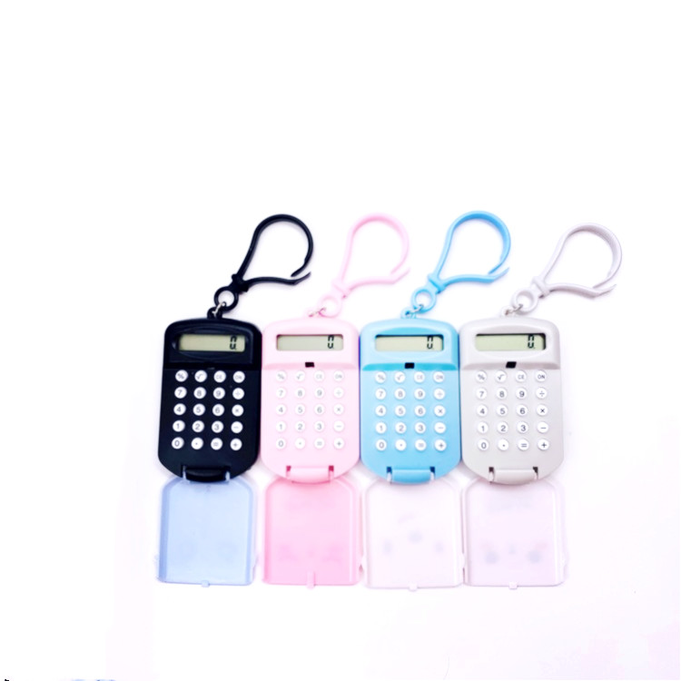 Portable Cartoon Calculator Pocket Size 8 Digits Display Mini Ultra-thin Button Battery Cute Calculator Creative School Student