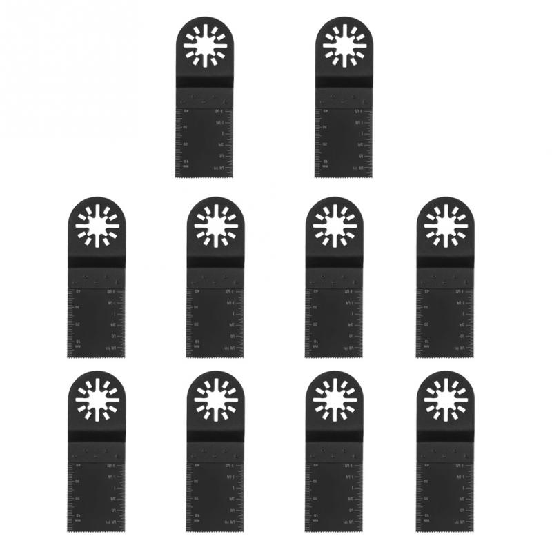 10pcs 34mm High Carbon Steel Oscillating Multi Tool For Wood Plastic