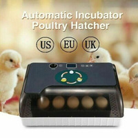 Egg Incubator Digital Fully Automatic 12 Eggs Poultry Hatcher for Chickens Ducks BJStore