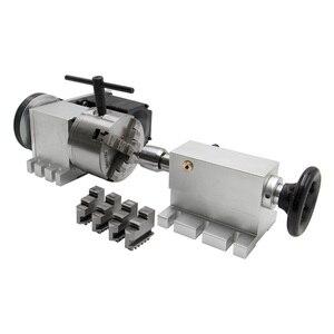 Image 3 - CNC 4th Aixs 3 4 לסת k12 צ אק 100mm Nema 34 מנוע צעד 4:1 / NEMA23 6:1 + זנב המניה עבור נתב