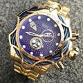 Temeite мужские часы Топ бренд дизайн роскошные золотые кварцевые часы для мужчин большой циферблат часы водонепроницаемые наручные часы Relogio ...