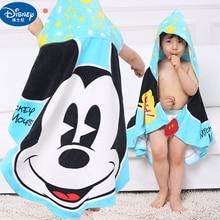 Disney Cotton Children baby Hooded Bath Towel beach towels Minnie Mickey Mouse Car Cloak Bathrobe Cartoon towel gift