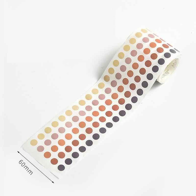 Kinbor 336 шт./лот красочные точки васи лента японская бумага Diy планировщик Маскировочная лента клейкие ленты декоративные наклейки