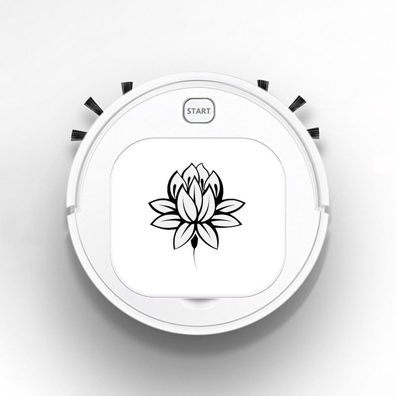 Robot Vacuum Cleaner Intelligent Automatic Mopping Clean Robot for Hard Floor Carpet Lotus Flower Buddhism Buddha Meditation