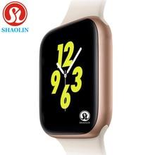 Gold Color Men Smartwatch for apple watch iphone 6 7 8 X Samsung Android Smart Watch phone Support Whatsapp Message reminder цена в Москве и Питере