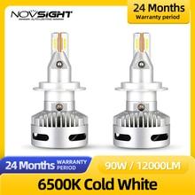 NOVSIGHT H7 Led Lamp For Auto H11 D1 D2 D5 Car Bulb Headlamp 12000LM 6500K 90W 9005 9012 headlight car accessories Lamps Bulb