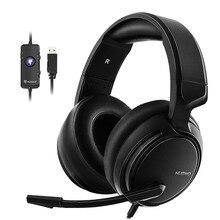 Oyun kulaklığı 7.1 ses aşırı kulak kulaklık kulaklık USB mikrofon ile bas Stereo bilgisayar oyun marka NUBWO N12