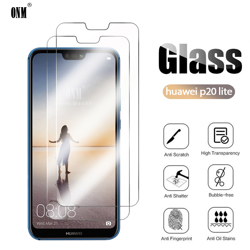 2Pcs Gehard Glas Voor Huawei P20 Lite Pro Screen Protector Voor Huawei P20 Lite 2019 Beschermende Glas Film