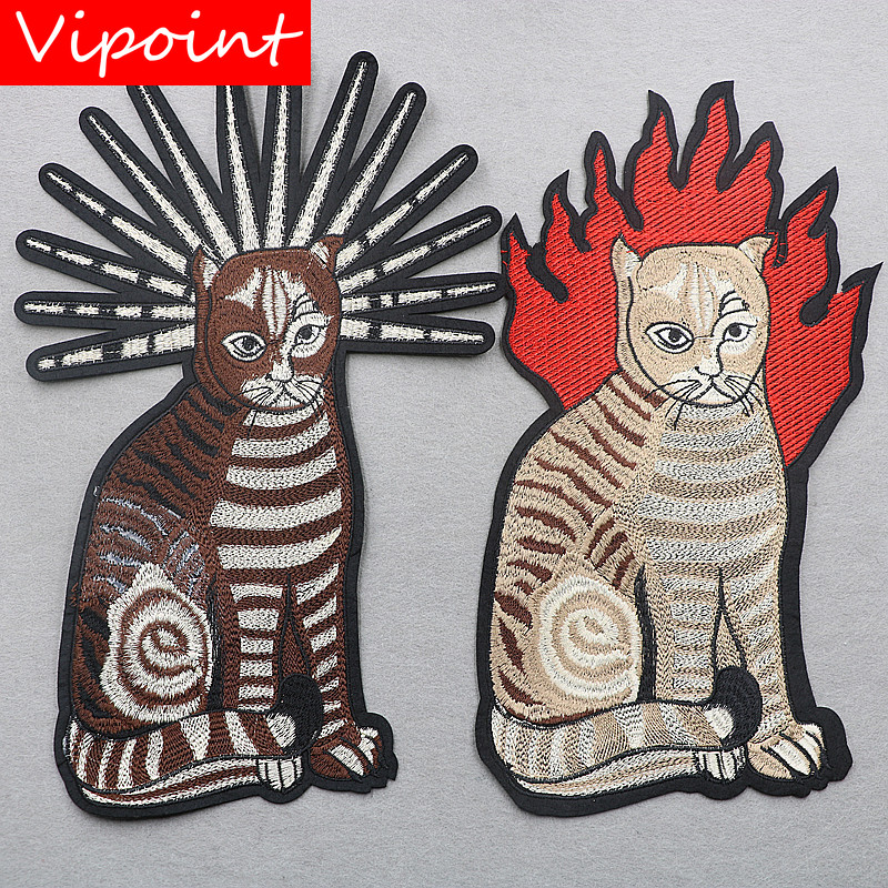 VIPOINT embroidery big cats patches animal badges applique for clothing XW-160