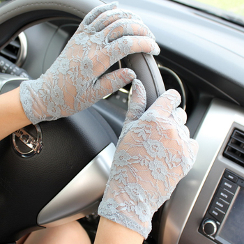 NEW Black White Pink Red Fashion Women Lady Lace Party Sexy Dressy Gloves Summer Full Finger Sunscreen for Girls Mittens - discount item  29% OFF Gloves & Mittens