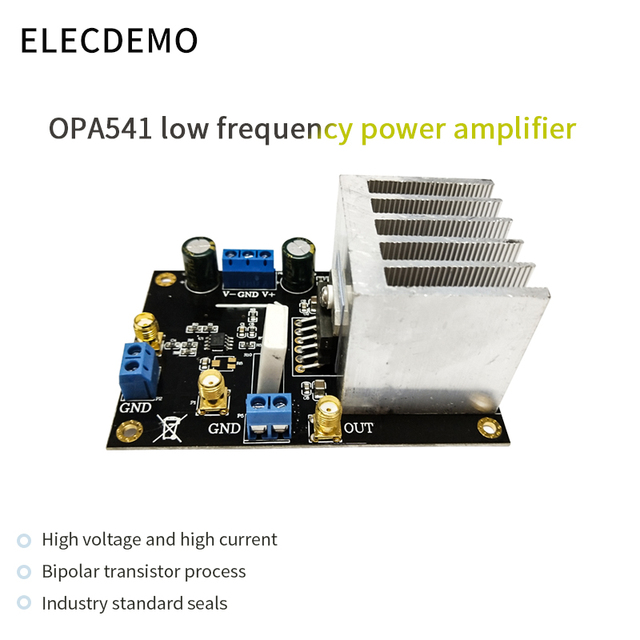 OPA541 وحدة مضخم الصوت HiFi أمبير 5A الجهد العالي الحالي عالية محرك لفائف Driveable الصوت مكبر الصوت
