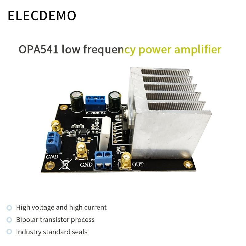 Модуль звукового усилителя OPA541, Hi-Fi AMP 5A, ток, высокое напряжение, высокий ток, управляемая катушка, усилитель звука двигателя