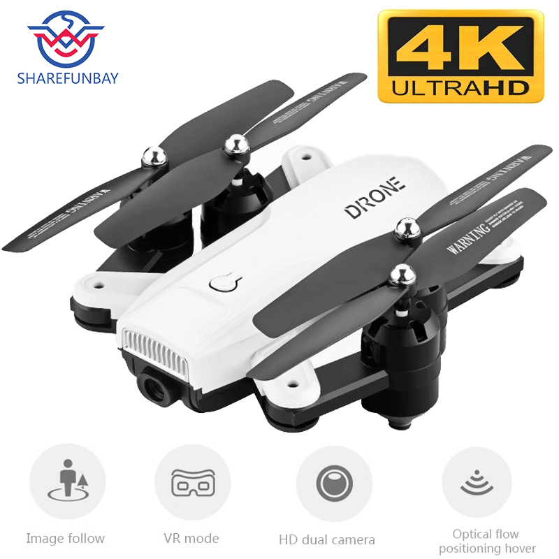 Drone R2 dual camera HD drone 4k WiFi fpv quadcopter optical flow hover with rc helicopter