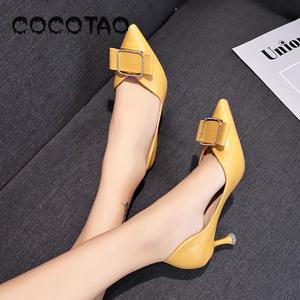 Image 2 - รองเท้าหนังนุ่มรองเท้าผู้หญิงฤดูร้อน 2019 ใหม่JOKERเว็บที่มีชื่อเสียงFairy Diamond PointปากLadle shoes33