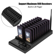 20 Channels Pager 999 Channels Base Wireless Queue Calling System For Cafe Restaurant pager