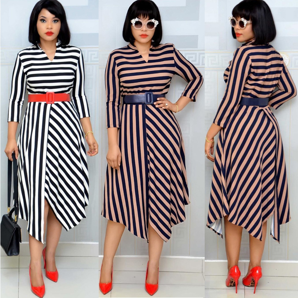 African Dresses For Women Elegent Fashion Style African Clothes Women Plus Size Knee-length Africa Clothing Ankara Dresses M-3XL