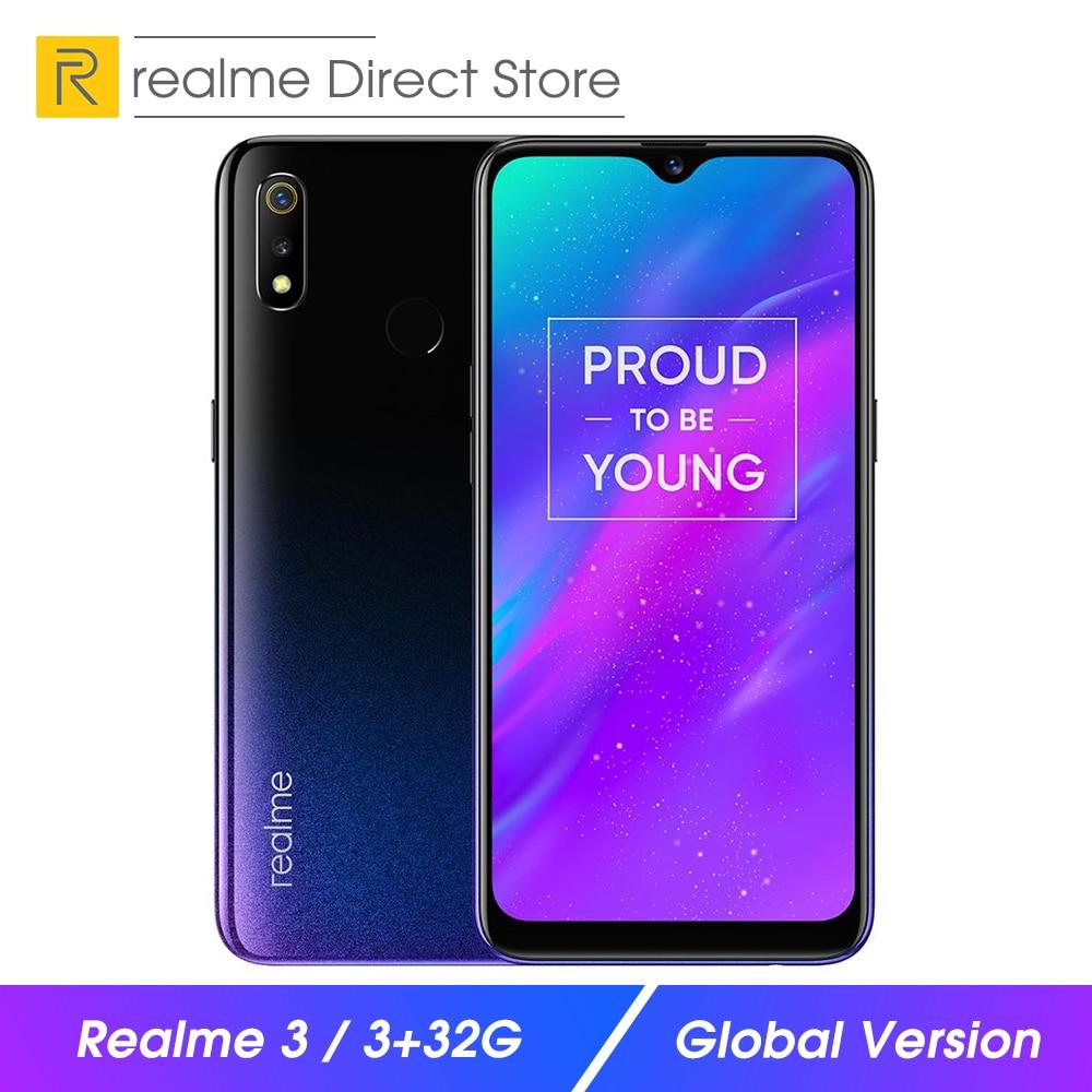 "Global Version OPPO realme 3 3GB RAM 32GB ROM Mobile Phone 6.2"" Smart Moblie Phone 4230mAh Dual Camera Smartphone"