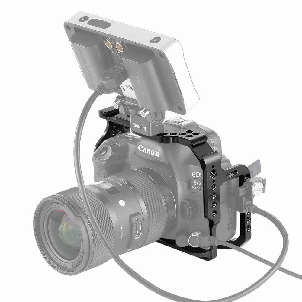 "SmallRig מגן כלוב עבור Canon 5D סימן III IV מצלמה עם bulit נאט""ו מסילות Arca שוויצרי צלחת- 2271"