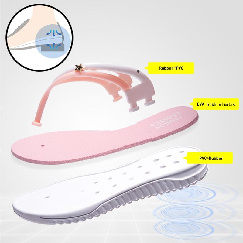 Womens Summer Slip-on Shoes Anti-slip Hard-wearing Fashion Leisure Slippers Beach Swimming Walking Indoor T-tied Flip Flops 4