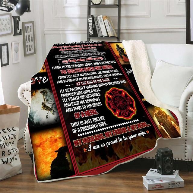 флисовое одеяло tearcher с 3d принтом для кровати пешего туризма фотография
