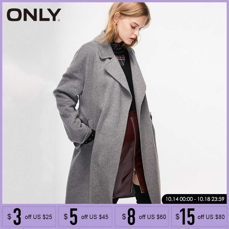 ONLY Fashion Women Autumn Winter  Double-faced Wool Coat | 11844S503