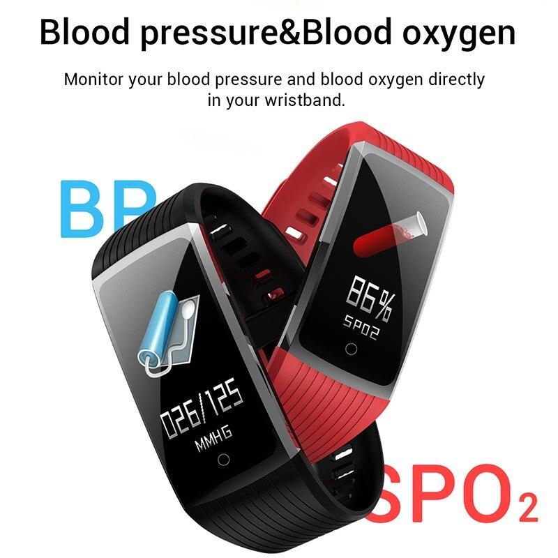 R12 Smart Band Bracelet Fitness Bracelet with Pressure Measurement Health Wristband Pedometer Heart Rate Monitor Cardio R12 Smart Band Bracelet Fitness Bracelet with Pressure Measurement Health Wristband Pedometer Heart Rate Monitor Cardio Bracelet