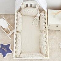 Protector de cuna para bebé, parachoques para cuna para niños y niñas, almohada anticolisión, cojín Protector de cama para niños, decoración de habitación