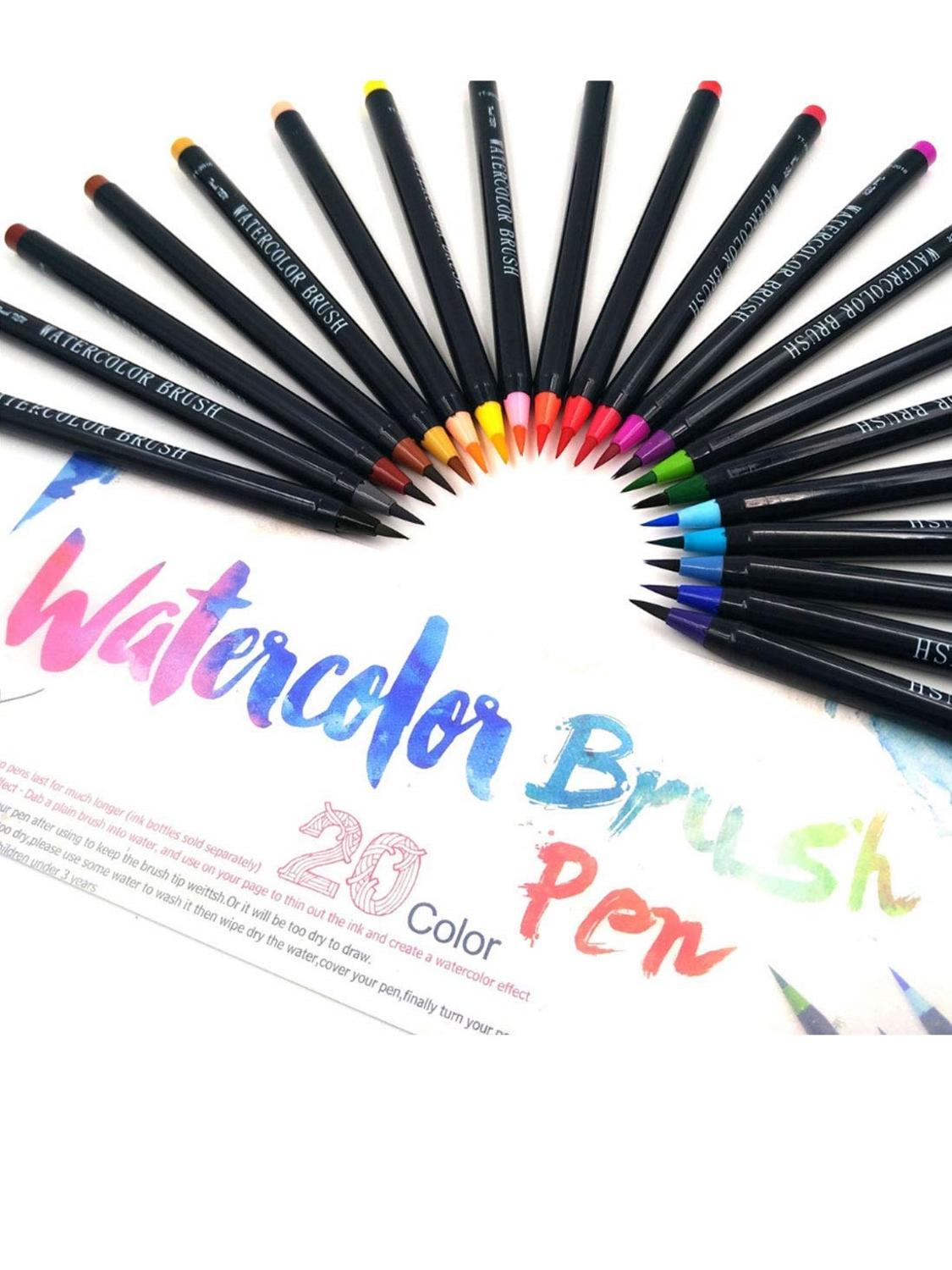 Pen-Set Paint-Brush Refillable Watercolor Calligraphy-Art Kids For Drawing with Gift