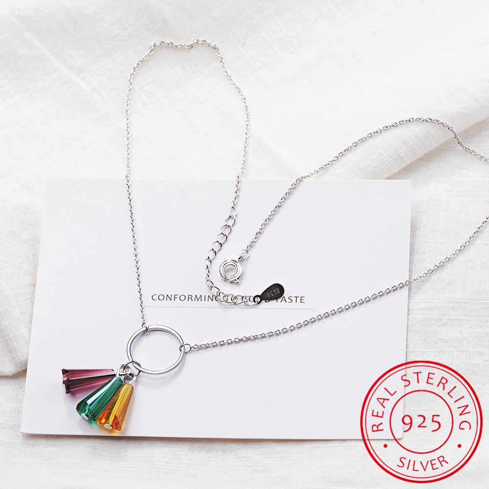 Веерообразное цветное искусственное Кристальное Радужное ожерелье с кисточками