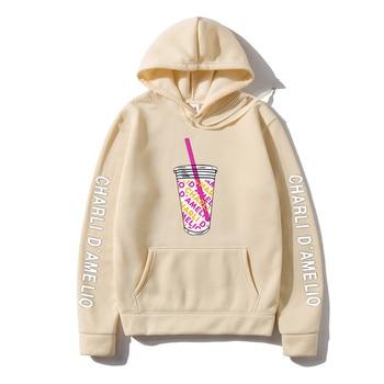 Harajuku Ice Coffee Splatter Hoodies Sweatshirts Men japanese streetwear hoodie Charli DAmelio Pullover Unisex Costume Tracksuit 8