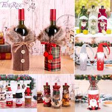 FENGRISE Санта Клаус крышка бутылки вина рождественские украшения для дома Подарочный Рождественский чулок Navidad новогодний декор