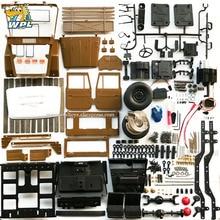 WPL C44KM 1:16 מתכת אינו מורכב ערכת עם מנוע סרוו 4WD טיפוס מחוץ לכביש RC משאית DIY אביזרי שונה שדרוג ילד צעצוע