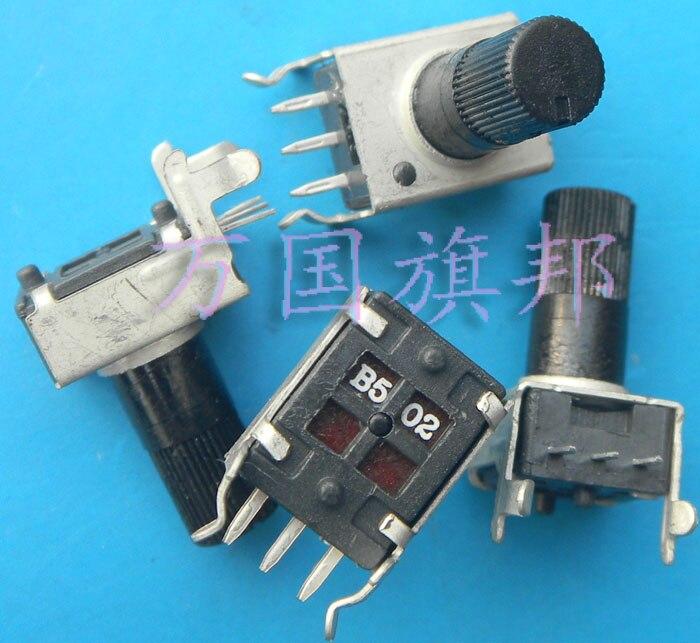 Бесплатная доставка. 09 год Тип одного соединения 0901 n регулируемый потенциометр B5K B502 5 K уровень