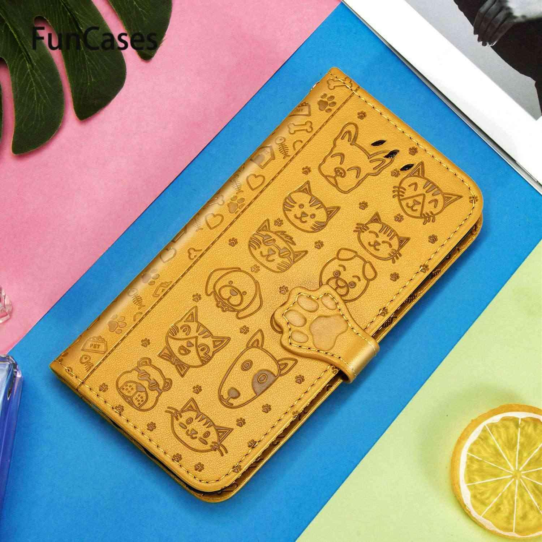 Joli chat et chien en cuir PU étui portefeuille à rabat pour étuis Samsung S20 Samsung Galaxy étui S20 Ultra Plus étuis de téléphone de protection