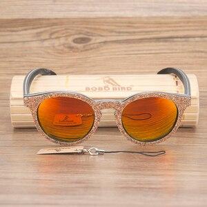 Image 5 - ボボ鳥男性女性サングラス木製猫目サングラス女性眼鏡高級手作り竹木箱
