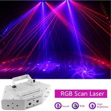6 augen Laser Scan Lichter DMX512 RGB Voll Farbe Laser Licht Linear + Bild Wirkung Bühne Beleuchtung 6 Objektiv Scanner laser DJ Ausrüstung